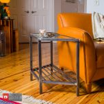 Tri-Top Table - Corner Side View | Boltz Steel Furniture - Made in USA