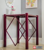 Round Spindle Side Table in new RAZZ Sparkle