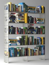 10 Shelf Modular Steel Bookcase