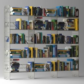 15 Shelf Modular Steel Bookcase