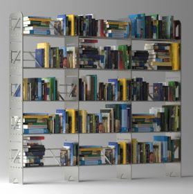 15 Shelf Modular Steel Bookcase