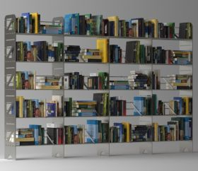 20 Shelf Modular Steel Bookcase