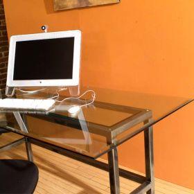 Steel & Glass Loft Desk