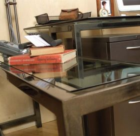 Steel & Glass End Table