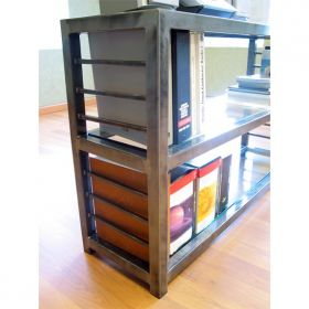 Loft 3 Shelf Steel Bookcase