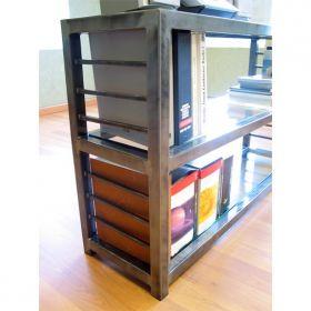 Loft 3 Shelf Steel Bookcase