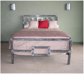 Cal King Architect Steel Bed Frame-Anthracite Metallic