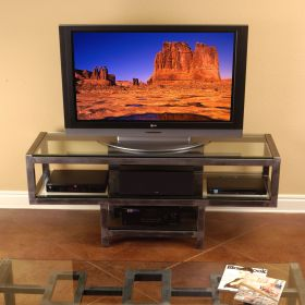 Steel & Glass TV / LCD / Plasma Stand (Telluride)