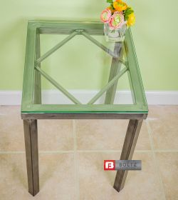 Steel Diamond Side Table