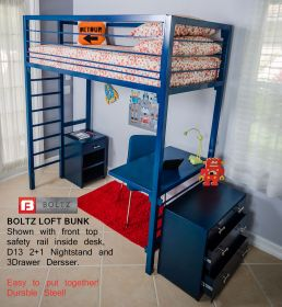 Steel Loft BunkZ Beds by Boltz furniture