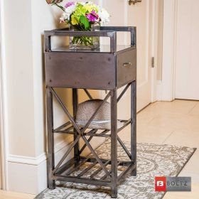 BOTLZ Steel Furniture Accent Cart for Hallway