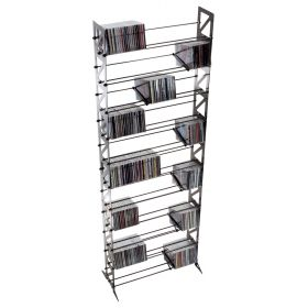 Steel CD Storage Rack, Store 600 CDs