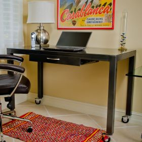 Lightweight Steel Top Desk with Casters