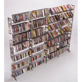 CD, DVD, VHS Multimedia Floor Rack & Shelving (MM-1008)
