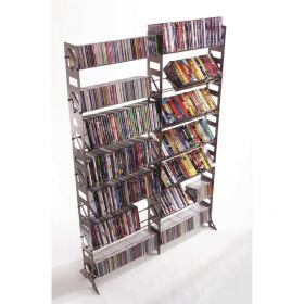 CD, DVD, VHS Multimedia Floor Rack & Shelving (MM-504)