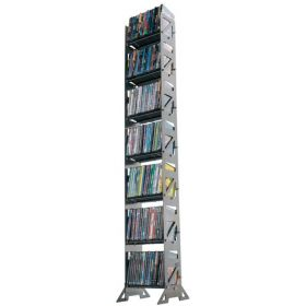 CD, DVD, VHS Multimedia Floor Rack & Shelving (MM-126)