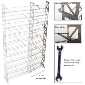 CD, DVD, VHS Multimedia Rack & Shelving Expansion Kit (MMEXPT-12)
