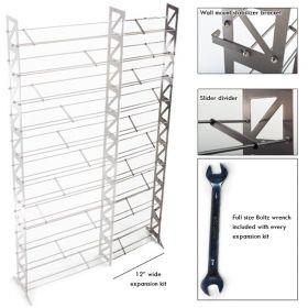 CD, DVD, VHS Multimedia Rack & Shelving Expansion Kit (MMEXPT-12)