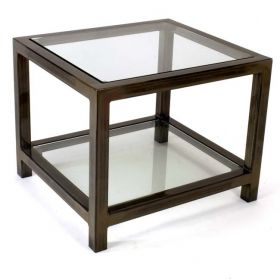 Steel & Glass Audio Video Table (P6) Black Matte