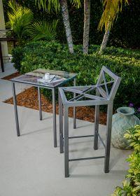 Outdoor Boltz Steel Bistro Bar Chair
