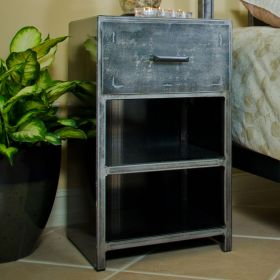 D13 Steel 2 Shelf, One Drawer Cabinet