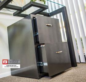 Steel BOLTZ 2 drawer letter size file cabinet